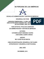 Tesis Liderazgo y Clima Laboral en El Jne - Autores - Miranda y Quispe
