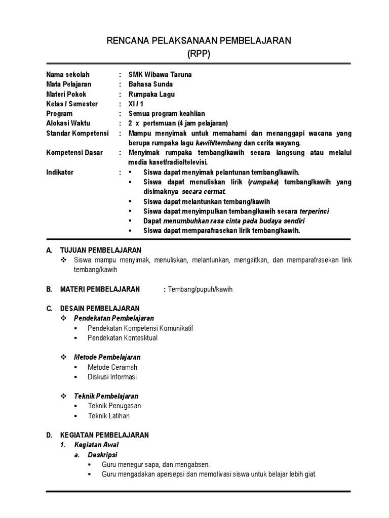 Rpp B Sunda Xi