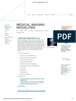 Medical Imaging Modalities - Comparison