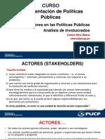 Los actores en las políticas publicas.