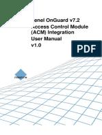 Milestone ACM Lenel OnGuard 7.2 Manual Ver1.0