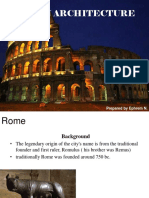 Class 5 History of Roman Architecture
