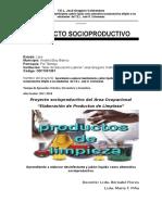 Proyecto Socioproductivo de Productos de Limpieza