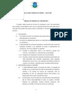 Manual de Normas de Construção Cond. clube mirante da Serra