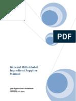 GeneralMills Ingredient Supplier Manual