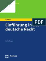 Gerhard Robbers - Einfuhrung in Das Deutsche Recht (Nomosstudium) (German Edition) (2016, Nomos Verlagsgesellschaft)