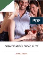 Conversation Cheat Sheet