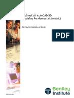 ProSteel V8i AutoCAD 3D Modeling Fundamentals (Metric) TRN015490-1-0004