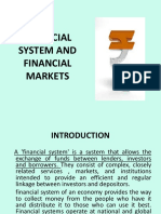 Financial System And Financial Markets
