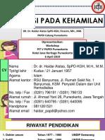Hipertensi Pada Kehamilan - Dr. Haidar