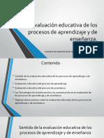 Evaluación Educativa de Los Procesos de Aprendizaje