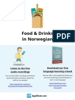 Food Drinks In Norwegian