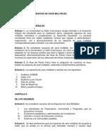 Reglamento Espacios Usos Multiples
