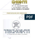 Portafolio de Servicios Tecnointi