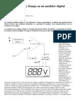 Resolucion y Rango en medicion con Pinzas Voltiamperimetricas y Multimetros