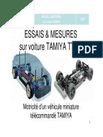 Essais & Mesures. Sur Voiture Tamiya Tt-01
