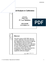 Risk Analysis in Calibration