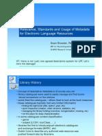 Metadata Talk MPI