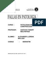 fallas de patologia