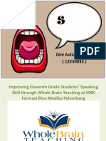 PPT Whole Brain Teaching for teaching speaking
