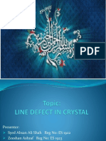 LINE DEFECT IN SOLID