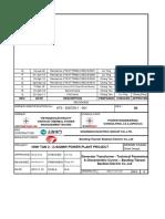 Generator Transformer - Technical Parameters Rev. G