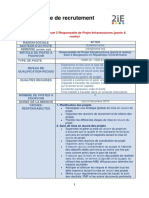 Fiche Recrutement_2iE_PM Infrastructures (Ponts & Routes) Bangassou