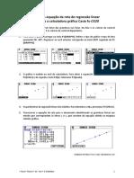 Calculadora Casio Equacao Reta Regressao Linear