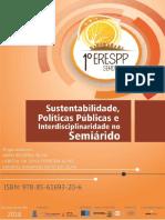 Sustentabilidade, Políticas Publicas e interdisciplinariedade no Semiárido