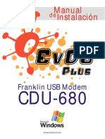 EvDO-Plus Manual Franklin CDU-680 Windows