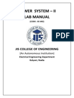 Power System II Lab Manual