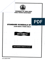 Standard Schedule of Rates in Tamil Nadu