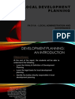Local Development Planning