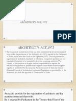 Architect's act