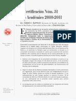 CSA-31-2010-2011 (discusión de propuestas)