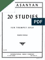 20 estudios  de trompeta