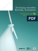 Developing renewables . Renewing development.  Towards clean, safe and fair energy. (Sustainlabour, 2008)