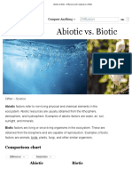 Abiotic vs Biotic - Difference and Comparison _ Diffences