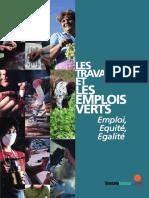 Les travailleuses et les emplois verts. Emploi, Equité, Egalité. (Sustainlabour, 2009)