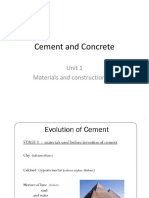 Unit 1 Cement and Concrete