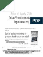 Calidad total vs reingeniería de procesos