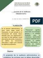 Planeación de La Auditoria Administrativa 15-04-19