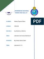 Informe Nº13-Resonancia en Los Cktos Electricos Lineales