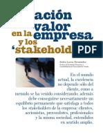 La Creacion de Valor en La Empr - Lorca Fernandez, Pedro