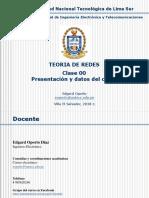 TEORIA de REDES - TEMA 00 - Presentación y Datos Del Curso