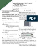Entradas y Salidas Analogicas PLC S7-1200