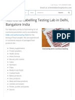 Food Testing Lab for Nutritional Labelling in India