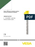 47580 ES VEGAFLEX 81-4-20 MA HART Cuatro Hilos Sonda de Medición Coaxial