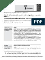 U 2 Cálculo de la muestra en investigación en educación médica.PDF