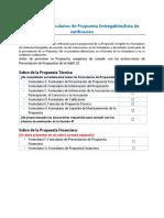 Formularios de Presentacion de La Propuesta